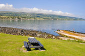 Picnic area at Ballygally, Northern Ireland — Stock Photo