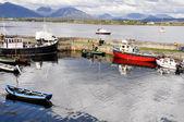Fishing Boats at Roundstone harbour, Ireland — Stock Photo