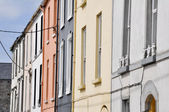 Colorful Irish houses in Kilrush city, Ireland — Stock Photo