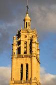 Belfry of Santa Maria church, Los Arcos, Navarre (Spain) — Stock Photo