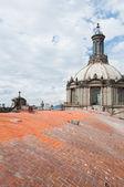 Kupolen i metropolitan cathedral, mexiko city — Stockfoto