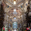 Altarpiece of Shrine of Our Lady of Ocotlan, Tlaxcala (Mexico) - Foto Stock