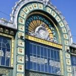 Facade of Abando railway station, Bilbao (Spain) — Stock Photo #16247687