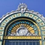 Facade of Abando railway station, Bilbao (Spain) — Stock Photo #16247695