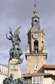 Virgen Blanca square, Vitoria-Gasteiz Spain — Foto de Stock