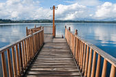 Pier at Lllanquihue lake (Chile) — Stock Photo