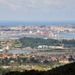 Panoramic view of Santander (Spain) — Stock Photo
