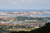 Panoramic view of Santander (Spain) — Stock Photo