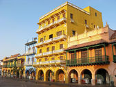 Square of carriages, downtown of Cartagena de Indias, Colombia — Stock Photo