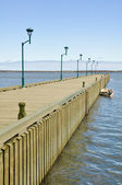 Boardwalk at Riviere au Renard, Quebec (Canada) — Stock Photo