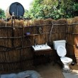 Basic wc facilities on campsite in North LwangN. P. (Zambia) — Stock Photo #18032673