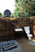 Basic wc facilities on a campsite in North Lwanga N. P. (Zambia) — Stock Photo