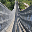 Suspended pedestrian Bridge, Quebec (Canada) - Stock Photo