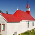Tadoussac chapel (oldest canadian wooden church) — Stock Photo