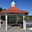 Sea front of Tadoussac, Quebec (Canada) — Stock Photo