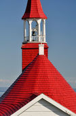 Roof of Tadoussac chapel (oldest canadian wooden church) — Stock Photo