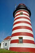 West Quoddy Head Lighthouse, Maine (USA) — Stock Photo