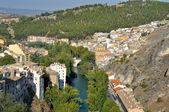 Fiume jucar, città di cuenca (spagna) — Foto Stock