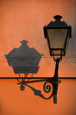 Retro streetlamp with shadow — Stock Photo