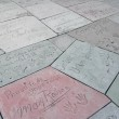 Footprints and handprints of various artists at Chinese Theater, Hollywood — Stock Photo #18844511