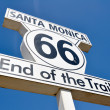 Route 66 end of the Trail sign in Santa Monica (California) — Stock Photo