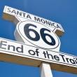 Royalty-Free Stock Photo: Route 66 end of the Trail sign in Santa Monica (California)