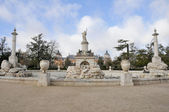 Hercules and Anteo fountain at Parterre garden, Aranjuez (Madrid) — Stock Photo