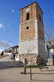 Clock tower of Chinchon, Madrid (Spain) — Stock Photo