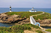 The Pancha island lighthouse, Galicia (Spain) — Foto de Stock
