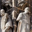 Statues at Monastery of San Juan de los Reyes, Toledo (Spain) - Stock Photo