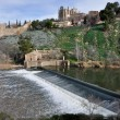 Dam on Tajo river, Toledo (Spain) — Stock Photo #19903511