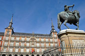 Plaza Mayor, Main square in , Madrid (Spain) — Stock Photo