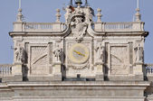 Clock tower of Royal Palace Madrid (Spain) — Stock Photo