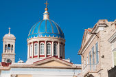 Dome of the Cathedral of Saint Nicholas, Ermoupolis (Greece) — Stock Photo