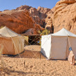 Stock Photo: Berber tent in Wadi Rum desert (Jordan)