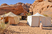 Berber tent in the Wadi Rum desert (Jordan) — Stock Photo