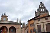 Main square of Ayllon, Segovia (Spain) — Stock Photo