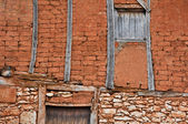 Facade of a rustic house, Segovia (Spain) — Stock Photo