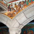 Murals at Government Palace of Tlaxcala (Mexico) — Stock Photo