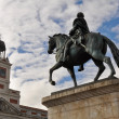 The monument of Charles III at Puerta del Sol, Madrid (Spain) - Stock Photo