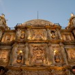 Cathedral of Our Lady of the Assumption at night, Oaxaca (Mexico) — Foto Stock