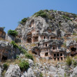 Lycian tombs in Myra, Demre (Turkey) — Stock Photo