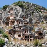 Lycian tombs in Myra, Demre (Turkey) — Stock Photo #26517591