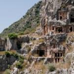 Lycian tombs in Myra, Demre (Turkey) — Stock Photo #26517593