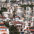 Modern Apartment Buildings on Hillside, Kas (Turkey) - Stock Photo