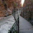 Boardwalk at Saklikent Gorge canyon (Turkey) — Stock Photo