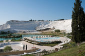 Panoramic view of Pamukkale (Turkey) — Stock Photo