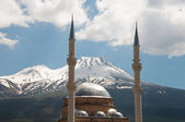 Karkın mosque and Mount Hasan (Turkey) — Stock Photo