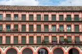 Buildings at Corredera Square, Cordoba (Spain) — Stock Photo