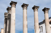 Columns of an ancient Roman temple in Cordoba (Spain) — Stock Photo
